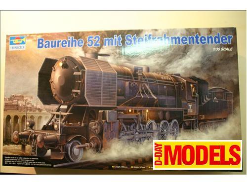 Locomotiva Tedesca Baureihe 52 mit Steifrahmentender - modelli Trumpeter