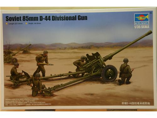 Soviet 85mm D-44 Divisional Gun - modelli Trumpeter