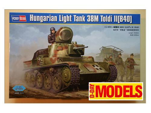 Hungarian light tank 38M Toldi II(B40)  - modelli Hobby Boss