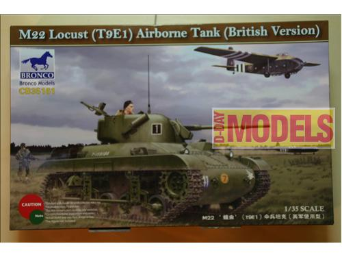 M22 Locust (T9E1) Airborne Tank (British Version) - Kit montaggio carri Bronco Models