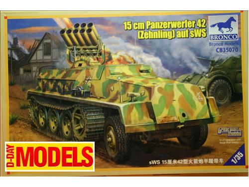 15 cm Panzerwefer 42 (Zehnling) auf sWS - kit montaggio mezzi militari Bronco Models