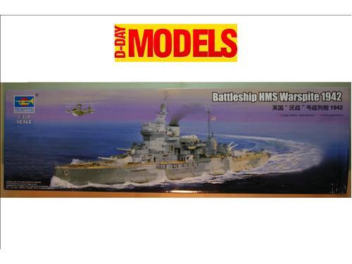 Battleship HMS Warspite 1942 - kit navi Trumpeter 1/350