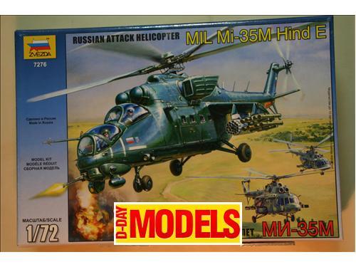 Mil Mi-35M Hind E (Russian attak helicopter) - kit aerei Zvedzda 1/72