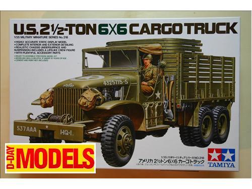 U.S.2 1/2 - Ton 6X6 cargo truck - kit montaggio mezzi militari Tamiya 1/35