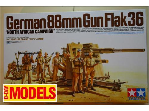 German 88mm Gun Flak 36 - Kit mezzi militari Tamiya scala 1/35